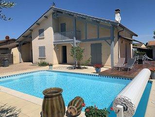 Maison bassin d Arcachon avec piscine  chauffée