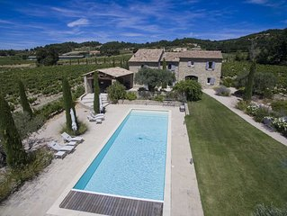 Fabulous Provencal Mas in Cairanne with big swimming-pool