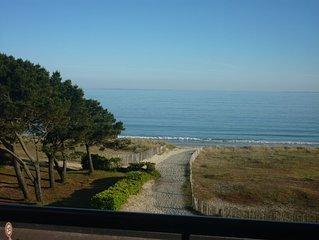 Appartement face mer vue panoramique sur plage de Carnac