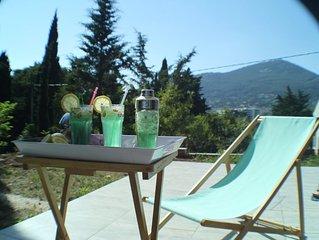 Rez de Villa neuf dans bastide provençale, tout confort, très bien équipé