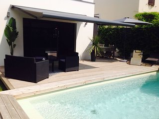Villa neuve contemporaine  avec piscine quartier résidentiel Montpellier