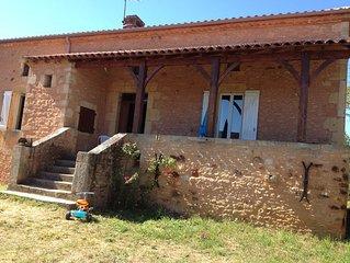Belle maison de campagne du XIX en pierre sur 20 ha- Proche Bonaguil