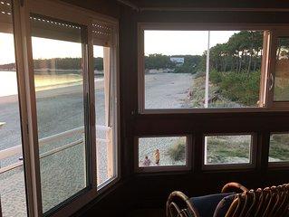 vue panormique sur mer, logement sur une plage sauvage