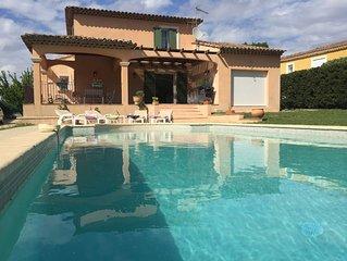 Cote d'Azur , villa , piscine privee , campagne , entre Mer et Montagne