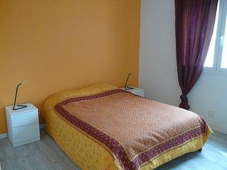 A 800m de la plage appartement 93 m2 dans villa au calme, avec jardin