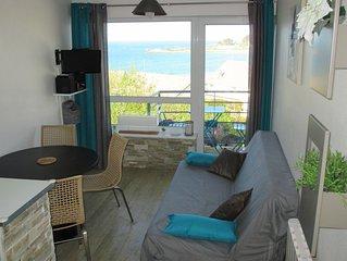 Duplex vue mer, 70 m de la plage a Trevou Treguignec