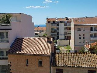 Grand appartement 82m2 à 100m de la plage à Fréjus pour 4 personnes + bébé