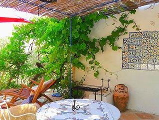 Rez-de-jardin dans une maison d'artiste
