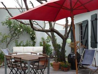 Charmante maison à 200m de la plage, jardin clos 175m²