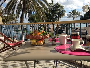 Tres bel appart 2 pieces - Terrasse sur la mer - Parking - Wifi - Hippodrome