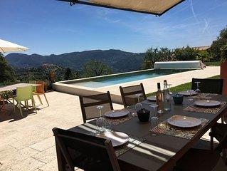 Magnifique villa sur les hauteurs de Nice au calme absolu