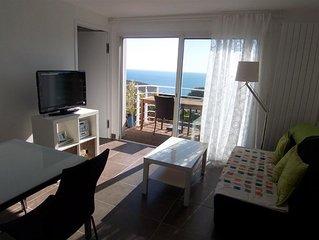 Sète, F2 magnifique vue mer, appartement F2 magnifique vue mer-terrasse en teck
