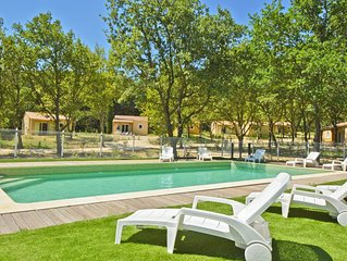 Villa 4/6 pers -  2 chambres - piscine - wifi - cadre enchanteur