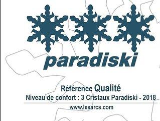 ARCS 1800 AGREABLE DUPLEX 6 personnes 3 CRISTAUX PARADISKI