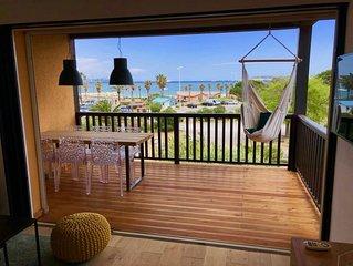 Appartement climatisé refait à neuf 36m2 + 12m2 terasse - VUE MER Saint-Tropez