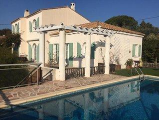 Villa de charme, 5 chambres, vue mer et piscine