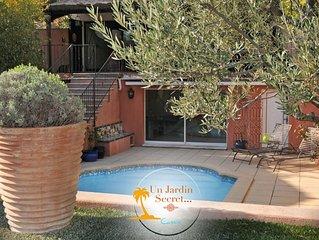 Cassis. Villa avec piscine et jardin pour 6 pers. 5mn des plages et du centre.