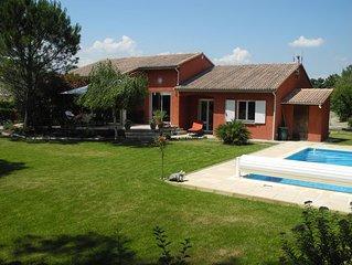 Villa confort 4 chambres au golf de Montélimar (à 200m)