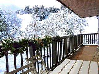 Appartement avec vue dégagée sur les alpages.