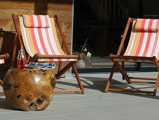 Villa contemporaine spacieuse et calme piscine chauffée Soustons 9km des plages