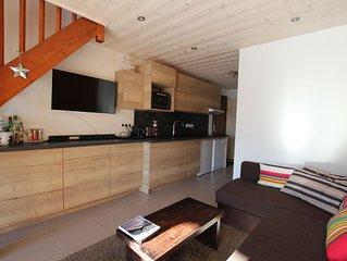 Appartement rénové LA CLUSAZ - skis aux pieds