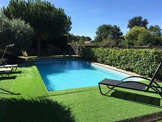 Maison bois esprit CAP FERRET avec piscine et jacuzzi