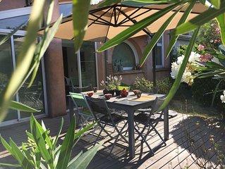 Dans Toulouse spacieuse maison familiale calme et chaleureuse avec jardin