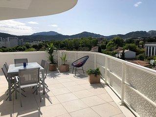 Appt neuf, Terrasse 70 m2 entre Calanques et Mer