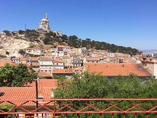 Maison de charme à Marseille, Vauban avec jardin, vue imprenable