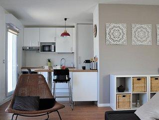 4* Charmant T2 moderne et confortable avec grande terrasse