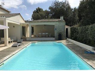 Villa avec piscine 100 metres plage du platin