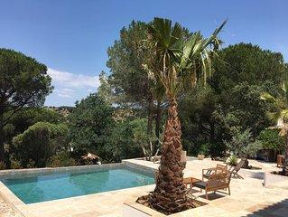 Studios dans villa avec piscine et jacuzzi