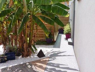 Appartement avec terrasse sur jardin en ville quartier Estaing, République