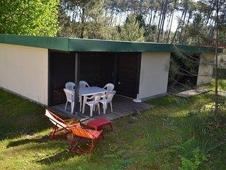 La maison de vacances au milieu de 70 hectares de pin à 2 pas de la plage