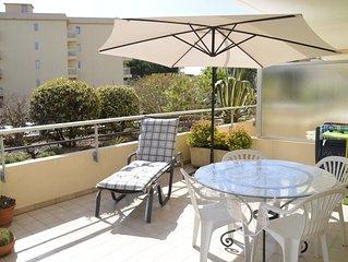 St Raphaël /Frejus plage 40m2, piscine, 1 chambre,150m plage