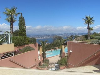Superbe F2 + Park Res moderne entre mer et Esterel avec magnifique piscine