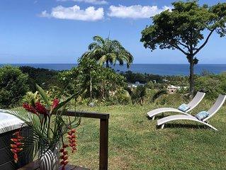 Villa Cyann, à Deshaies, vue mer, proche plage de Grande-Anse avec jacuzzi