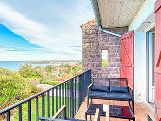 Bel appartement 4 etoiles avec terrasse, vue sur la mer et place de parking