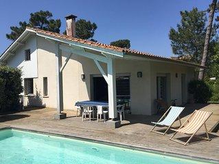 Villa avec Piscine,  9 couchages située au Canon, entre le bassin et l'océan