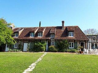 Clos Normand ,havre de paix; maison 180 m2 plein sud avec jardin clos & ruisseau