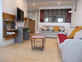 CIBOURE/ SAINT-JEAN-DE-LUZ, grand appart 3* + garage prive. Rdc. Acces facilite.