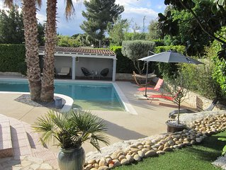 Villa avec piscine proche de la mer pour 6 personnes