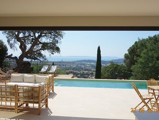 ☀️Var Villa Design Vue MER Panoramique Piscine Climatisation
