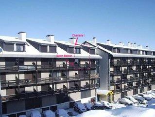 Duplex de 48m2  sud dernier etage a St lary Soulan pla d'adet face piste de ski