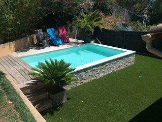 Confortable villa dans quartier résidentiel à 5 minutes de la plage