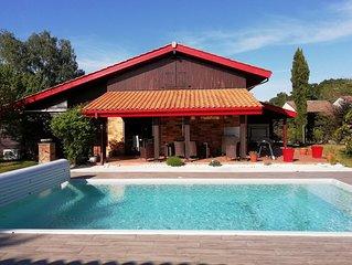 Maison d'architecte climatisée 4 chambres piscine chauffée