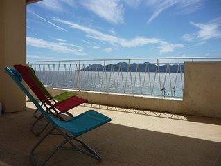 CANNES 4 personnes, face Mer et vue Esterel, terrasse