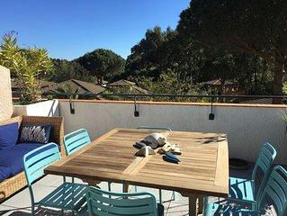 VAR -LE LAVANDOU  Duplex 6 pers dans residence avec piscine  - Cavaliere