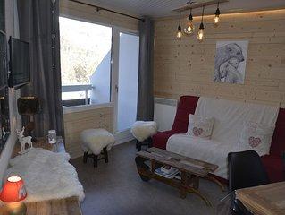 NOUVEAU Appartement cocooning décoration actuelle, 100m des pistes des commerces
