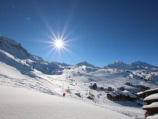Ski aux pieds Belle Plagne 2100m 3 pièces tout confort plein Sud résidence 4****